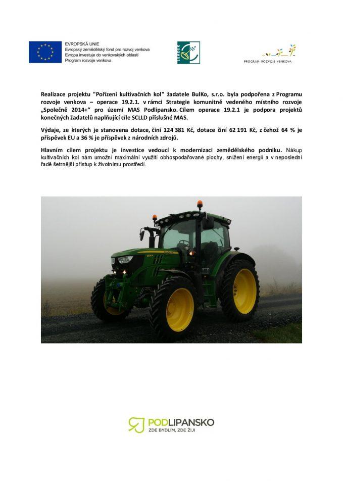 Podpora zProgramu rozvoje venkova