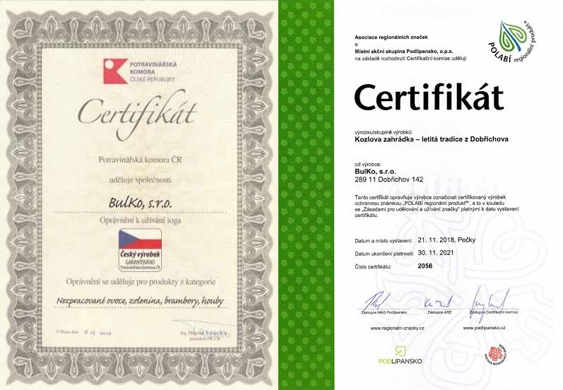 Certifikáty kvality